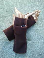 Brown Fingerless Toggers