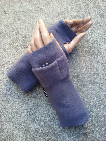 Grey Fingerless Toggers