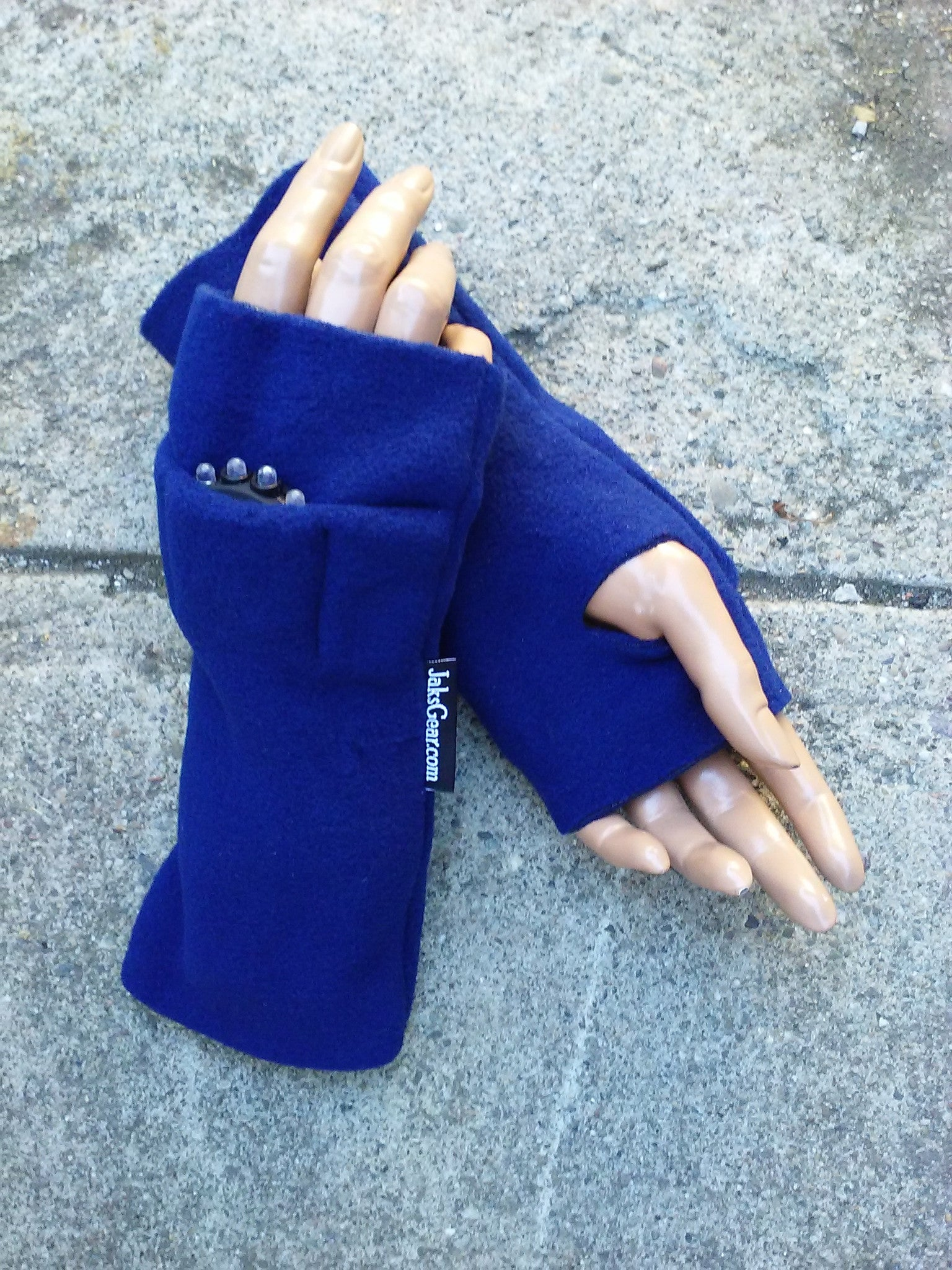 Navy Blue Fingerless Toggers