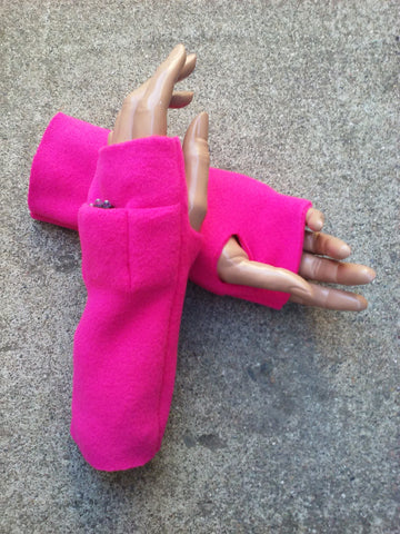 Pink Fingerless Toggers