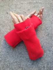 Red Fingerless Toggers