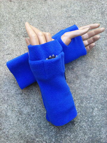 Royal Blue Fingerless Toggers