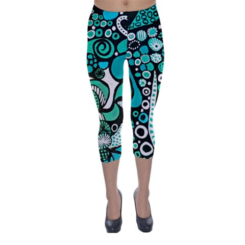 """Found Memory""  Women's Capri Leggings"