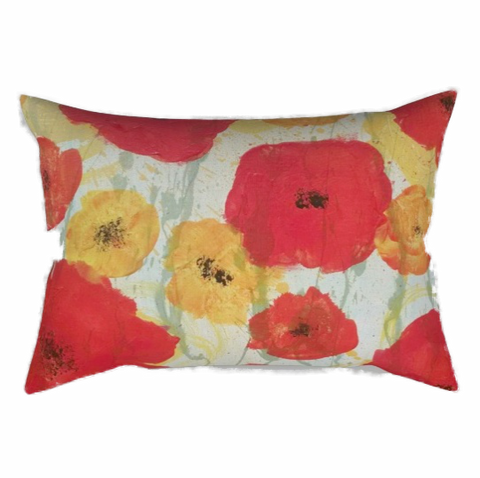 """Poppy Rain"" Rectangular Pillow"