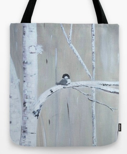 """Birch Birds"" Tote Bag"