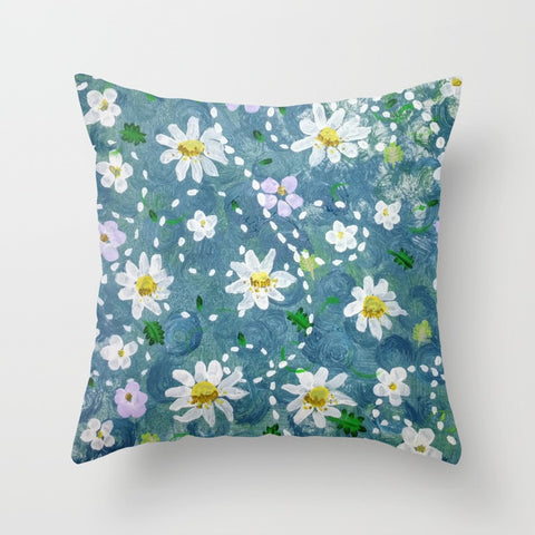 """Daisyblue"" Pillow Square"
