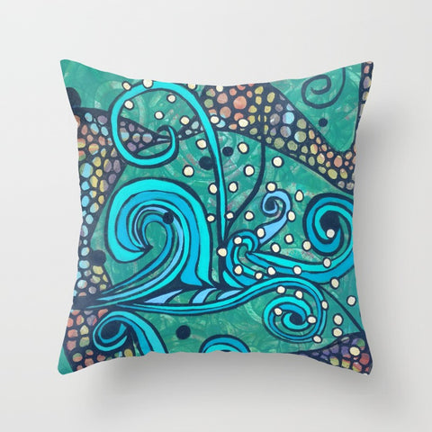 """Breaking the Surface "" Pillow Square 2 of 2"
