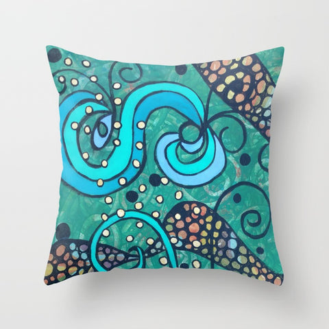 """Breaking the Surface "" Pillow Square 1 of 2"
