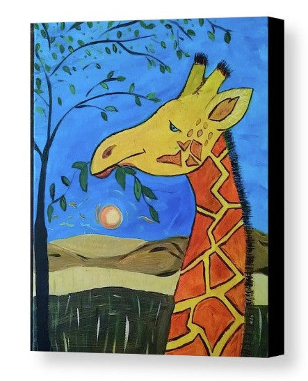 """Feelin' Giraffe-y"" Canvas Print"