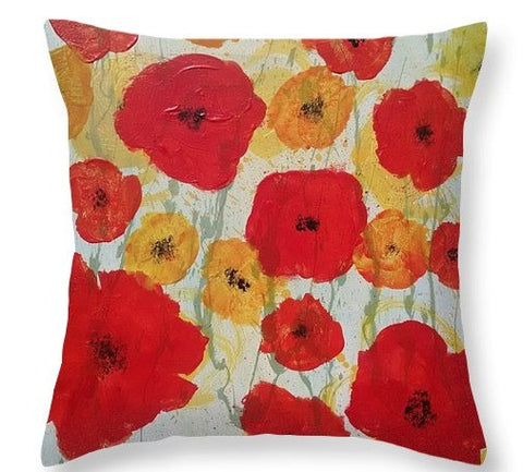 """Poppy Rain""  Pillow"