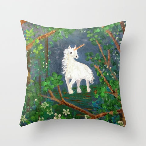 Moonlight Unicorn Pillow
