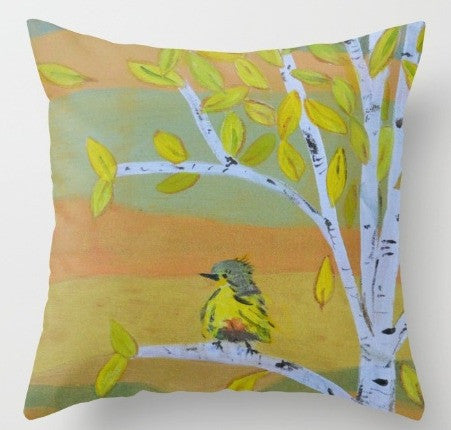 """Little Bird""  Pillow"