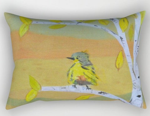 """Little Bird"" Rectangular Pillow"