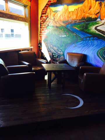 AvidPro Custom Hardwood Floors in Bend, Oregon - custom stage for Silver Moon Brewing