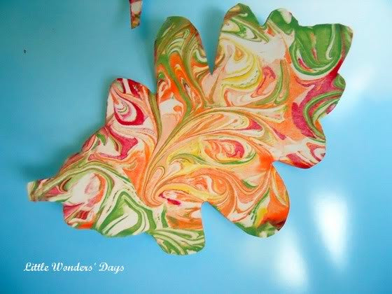 Shaving Cream Fall Leaves