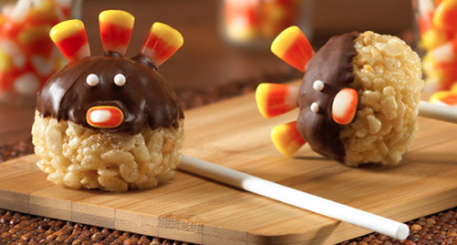Rice Krispies Turkey Pops