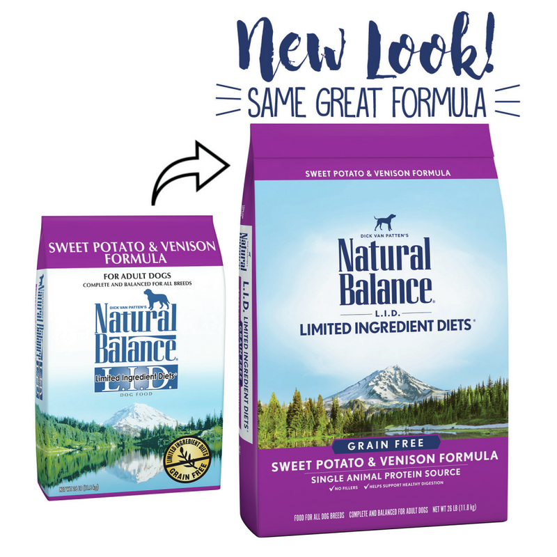 Natural Balance L.I.D. Limited Ingredient Diets Adult Maintenance Sweet Potato & Venison Dry Dog Food