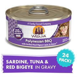 Weruva Polynesian BBQ With Grilled Red Big Eye Canned Cat Food image