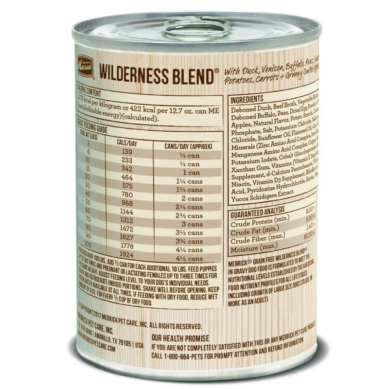Merrick Grain Free Wilderness Blend Canned Dog Food