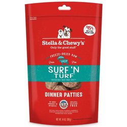 Stella & Chewy's Surf 'N Turf Grain Free Dinner Patties Freeze Dried Raw Dog Food image