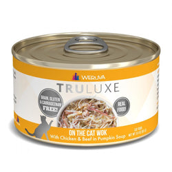 Weruva TRULUXE On The Cat Wok with Chicken and Beef in Pumpkin Soup Canned Cat Food image