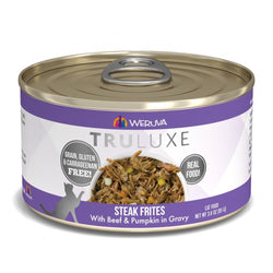 Weruva TRULUXE Steak Frites with Beef and Pumpkin in Gravy Canned Cat Food image