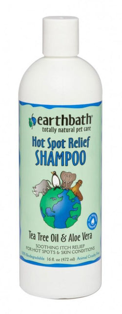 Earthbath Hot Spot relief Tea Tree and Aloe Shampoo for Dogs and Cats image