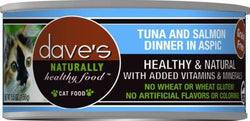 Dave's Naturally Healthy Tuna and Salmon Dinner in Aspic Canned Cat Food image