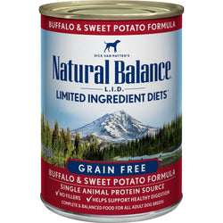 Natural Balance L.I.D. Limited Ingredient Diets Buffalo and Sweet Potato Formula Canned Dog Food image