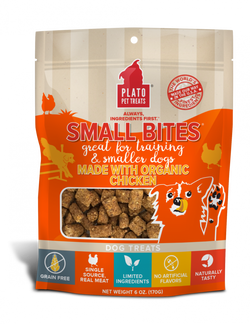 Plato Small Bites Organic Chicken Dog Treats image