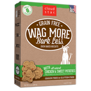Cloud Star Wag More Bark Less Oven Baked Grain Free Chicken and Sweet Potatoes Dog Treats