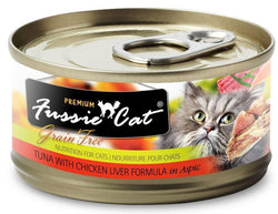 Fussie Cat Premium Grain Free Tuna with Chicken Liver in Aspic Canned Cat Food image