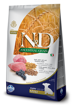 Farmina N&D Natural & Delicious Low Grain Mini Puppy Lamb & Blueberry Dry Dog Food image