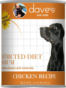 Dave's Restricted Diet Sodium Chicken Recipe Canned Dog Food