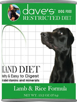 Daves Restricted Diet Bland Lamb & Rice Canned Dog Food image
