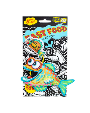 Fuzzu Fish & Taco Cat Toy