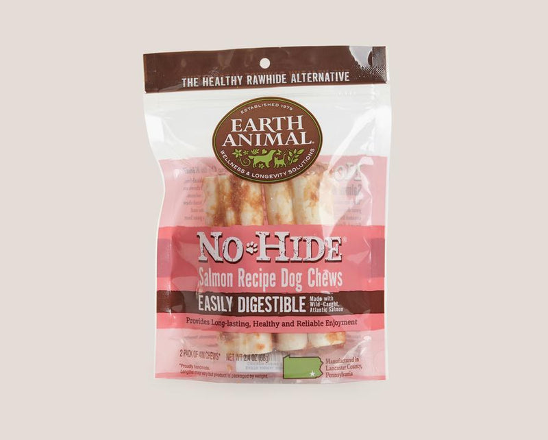 Earth Animal Salmon No-Hide® Wholesome Dog Chews - Small