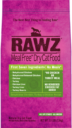 Rawz Dehydrated Chicken, Turkey & Chicken Recipe Cat Food image