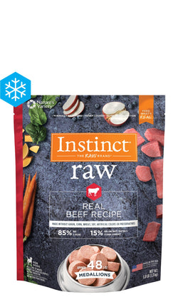 Instinct Raw Frozen Medallions Real Beef Recipe image