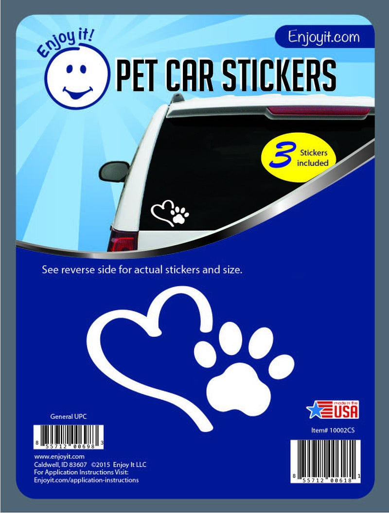 Enjoy it! Heart and Paw Car Stickers