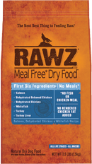 Rawz Salmon, Dehydrated Chicken & Whitefish Recipe Meal Free Dry Dog Food