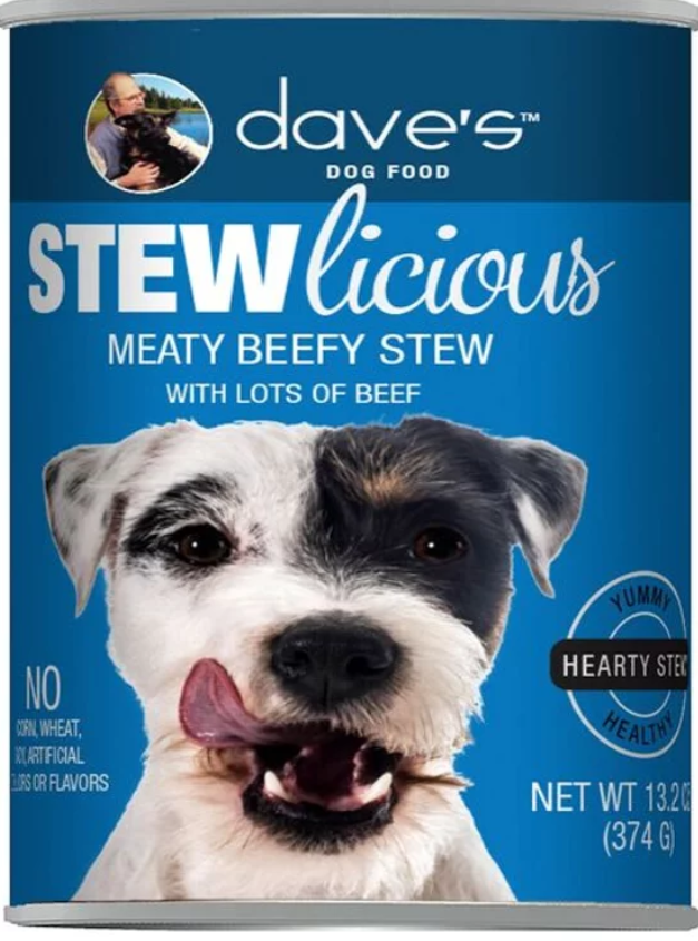 Dave's Stewlicious Meaty Beef Stew Canned Dog Food