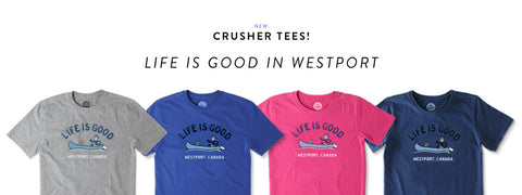 NOW AVAILABLE!  New Colours of Westport, Canada Tees