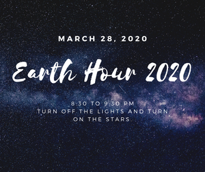 Earth Hour-Lights Out March 28th