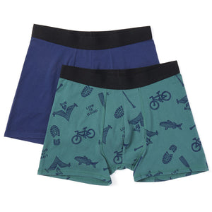 Men's Boxer Brief-Outdoor Action - Jake by the Lake-Life is good