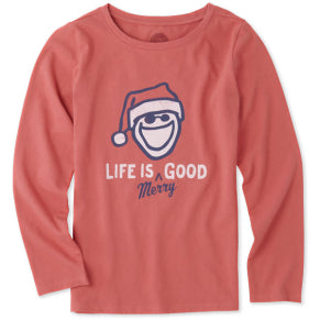 Girls Crusher Long Sleeve Life is Merry Good - Jake by the Lake-Life is good