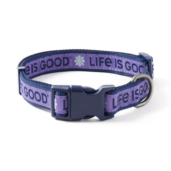 Dog Collar Daisy LIG Purple - Jake by the Lake-Life is good