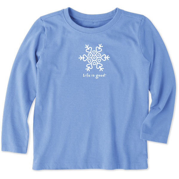 Toddler Long Sleeve Vintage Snowflake - Jake by the Lake-Life is good