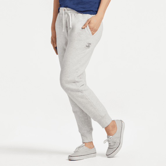 Womens Fleece Jogger Light Heather Gray Jogger  LHtrG