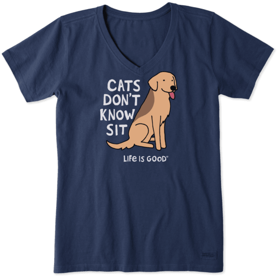 Women's Crusher Vee Cats Don't Know Sit